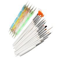 20pcs Nail Art Design Set Dotting Painting Drawing Polish Brush Pen Tools NI5L