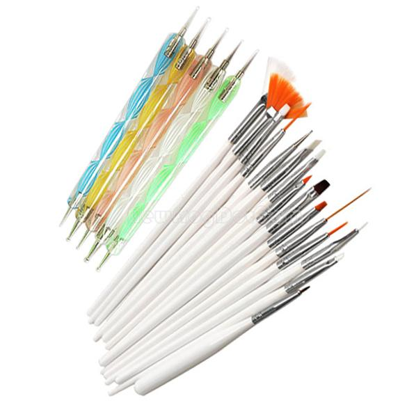 20pcs Nail Art Design Set Dotting Painting Drawing Polish Brush Pen Tools NI5L(China (Mainland))