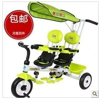 Canchn t021d twins tricycle cart double tricycle cart two seater child car