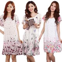Nightgown plus size plus size maternity short-sleeve lounge mm sleepwear female summer