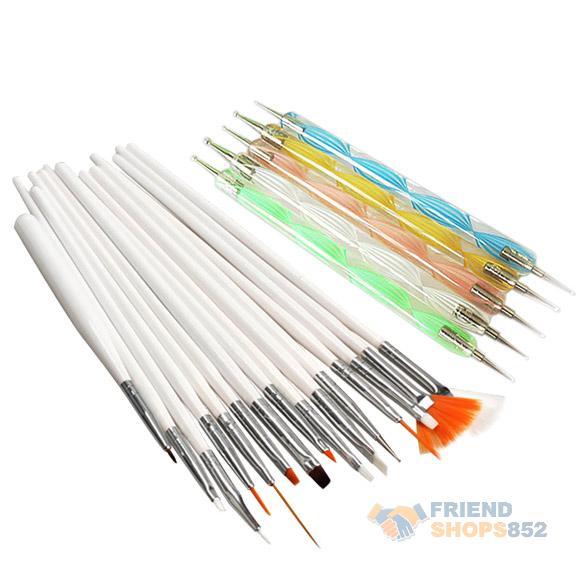 #F9s 20pcs Nail Art Design Set Dotting Painting Drawing Polish Brush Pen Tools(China (Mainland))