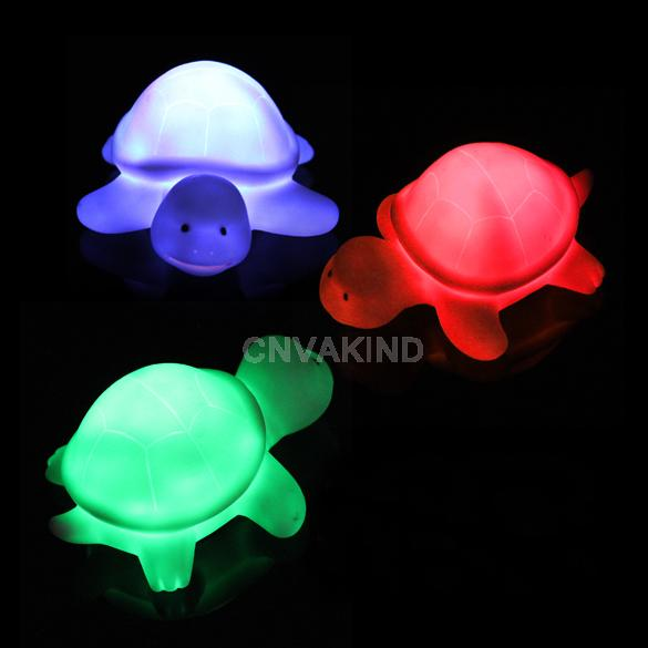 #C New Turtle LED 7 Colours Night light Lamp Party Christmas Decoration Colorful(China (Mainland))