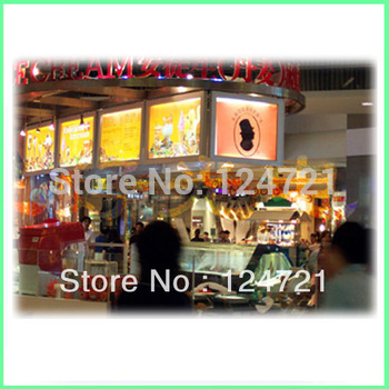 Ultra-thin LED menu board Lightbox display