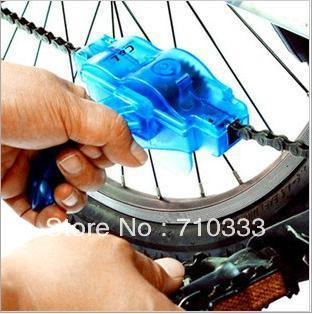 Cycling Bike Bicycle Chain Cleaner Machine Brushe Scrubber Wash Clean Tool Kit moutain bicycle chain cleaner kits Free Shipping