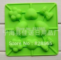 2pcs/lot  Free Shipping Wholesale Silicone 8 hole Lollipop Shapes Cake Mould chocolate mould Baking Cupcake Mold