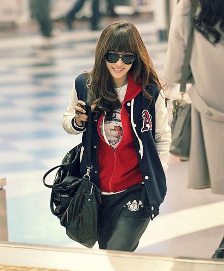 2014 New Baseball Uniform Women Hoodies/Brand Stand Collar Hoodie Sweatshirts For Women/Casual Sport Coats Women Clothing(China (Mainland))