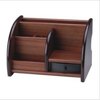 Free Shipping Fine wool 9 block cherry wood pen parallel-chord pen holder desktop storage box finishing storage box