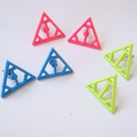 Fashion trend of the 2013 vintage cutout triangle stud earring earrings accessories female
