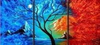 High Quality Modern Abstract Oil Painting on Canvas Art 4006 picture on wall