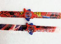 Free shipping!100pcs/lot!Fashion Spiderman Cartoon Watch Silicone Chidren Slap Watches Digital Sport  Kids Watch A2665 Wholesale