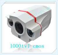 New Arrival ! 1000tvl cmos IR-CUT HD waterproof outdoor camera with 8MM standard Lens 2pcs Array led lights 20m night vision