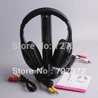 5 in 1 Wireless headphone Earphone Headset wireless Monitor FM radio for MP4 PC TV audi