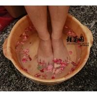 Cedar wood tub solid wood bucket foot bath tub
