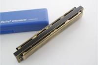 free shipping Advanced 24 c polysyllabic antique bronze color harmonica