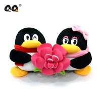 Romantic rose 16cm qq plush doll a pair of lovers gift