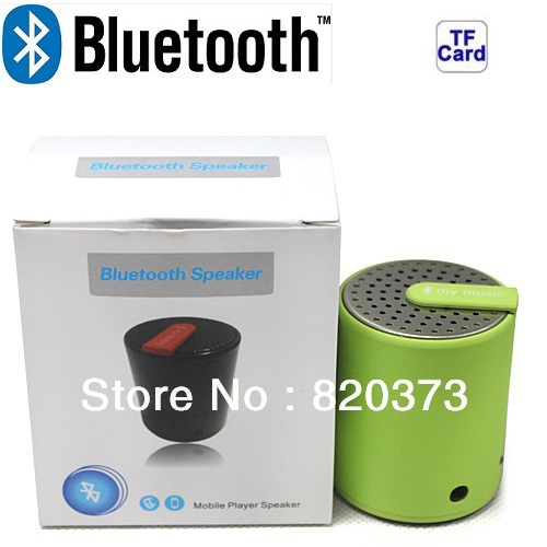 bluetooth speaker Mp3 media player Handheld Wireless Bluetooth portable mini mobile speaker rechargeable MP3, Green(China (Mainland))