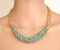Min order $10 Wholesale Fashion Bohemia Beads Chain Necklace for Women