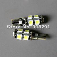 Free Shipping 100pcs/lot Car ERROR FREE CANBUS W5W T10 5050 LED SIDE LIGHT BULB 9 SMD 2