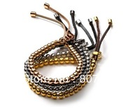 2013 hot copper beads leather bracelets, beads bracelet