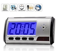 2013 Hot Hidden Camera Alarm Clock Digital Video Remote Control Security Camera Alarm Clock DV DVR with Motion Detection