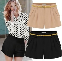 Free shipping 2013 women's shorts female trousers high waist chiffon skirt pants plus size fashion basic single-shorts female