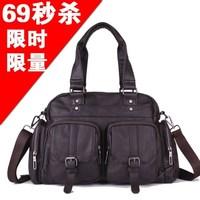 Casual man male messenger travel bag handbag shoulder bag cross-body cell phone pocket zipper pu21