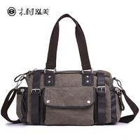 2013 man's casual shoulder bag messenger  canvas zipper tote bag vintage