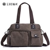 Canvas male bag male shoulder bags bag messenger bag handbag vintage cell phone pocket zipper 12