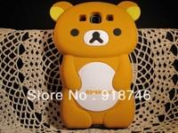 Retail Wholesale Silicone Cartoon Rilakkuma Bear Teddy soft gel Cover case For Samsung I9300 Galaxy S3 Fast Free drop Shipping