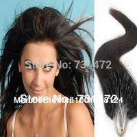 "18""20"" #2 Dark Brown Virgin Brazilian Human Hair Extension Micro Loop 0.5g/s 100 strands/set 50g Free Shipping"