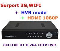 CCTV 8CH Full D1 H.264 DVR Standalone Super DVR SDVR/HVR/NVR Security System 1080P HDMI Output DVR Free Shipping