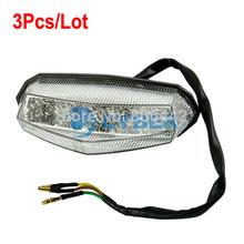 3Pcs/Lot Universal LED Motorcycle Tail Light Running Stop Brake Lights Lamp Dropshipping B2 TK0815(China (Mainland))