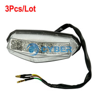 3Pcs/Lot Universal LED Motorcycle Tail Light Running Stop Brake Lights Lamp Dropshipping B2 TK0815