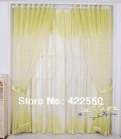 Idyllic natural wind fresh green cotton yarn restaurants bedroom, living room curtains matching set