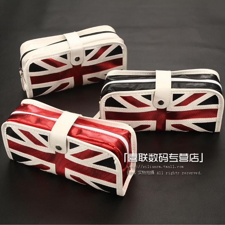 Free Shipping Zhigao torx flag big capacity pencil case storage bag cosmetic bag pencil bags stationery bags pencil case(China (Mainland))
