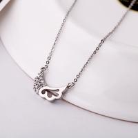 Accessories austria crystal copper moon women's short design necklace boxed