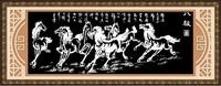 FREE SHIPPING Diy rhinestone diamond painting home decoration gift round diamond painting eight horses