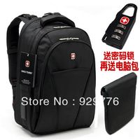 Swiss Army backpack shoulder bag Korean men leisure travel business computer schoolbag shoulder bag 15.6 inch