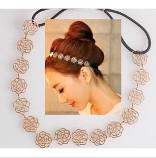 Min. order $9(mix order) Fashion Vintage Elegant Rose Cutout Elastic Hair Accessory TS039(China (Mainland))