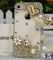 cases for iphone5 Wooden Heart Tassel hard case for iphone 5 free shipping wholesale supply