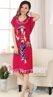 Free shipping Fashion Chinese Women's Gown Clothing Dress & Robe & Gown Costume pajamas #S0116