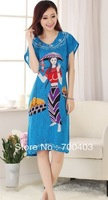 Free shipping Fashion Chinese Women's Gown Clothing Dress & Robe & Gown Costume pajamas #S0116-c