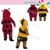 Cartoon Baby Fleece LADYBIRD BEE Cosplay Costume Fancy Dress Romper 3-24m 9485