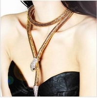 Min. order $9(mix order) 2013 Best Selling  Personalized Design Snake Necklace XL220