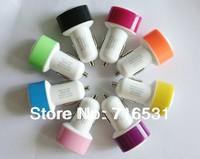 20pcs/lot 2A USB  Mini Car Charger mushrooms for Iphone 5 Ipad 4