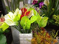 Single PU anthurium artificial silk flower artificial flower silk flower artificial flower artificial flower anthurium
