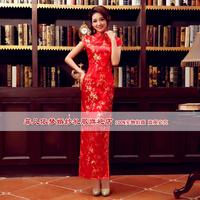 Cheongsam/chirpaur Married cheongsam chinese style long Qipao welcome cheongsam liturgy summer vintage bride cheongsam dress