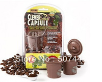 100 pcs/Lot Clever Coffee Capsule Reuseable Single Coffee Filter 100% BPA Free Kichin Keepers
