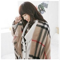 Wholesale Min order is $10 freeshipping(mix order)!!!Classic British wind upset super grid shawls