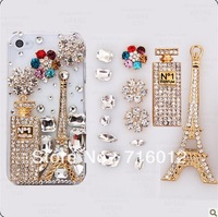 Free shipping! min order $15 Eiffel Tower alloy flatback for diy phone decoration 6pc for woman (no phone case) DY566